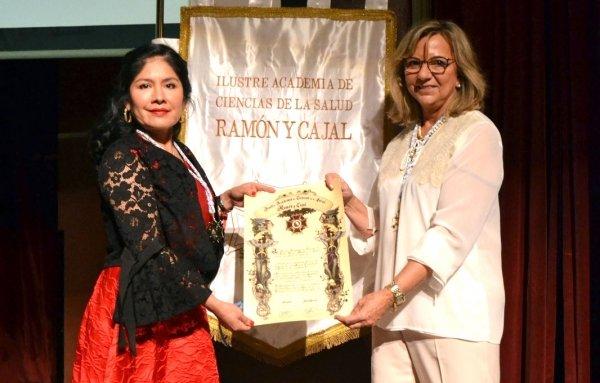 Dra. Sonia Diaz distinguida por la Ilustre Academia de Ciencias de la Salud Ramón y Cajal